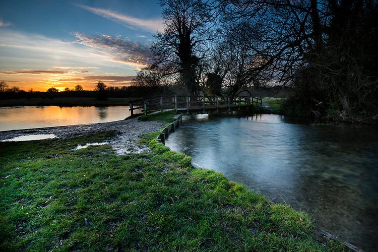The River Test at Chilbolton Common, Hampshire