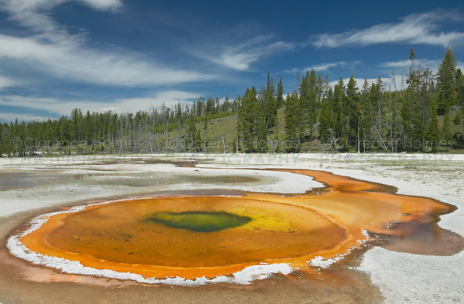 Chromatic Pool in Upper Geyser Basin, Yellowstone National Park