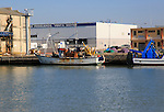 Wishing boat at quayside, Puerto de Santa de Maria, Cadiz province, Spain