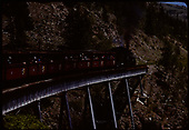 D&amp;RGW #484 K-36 with excursion train on Cascada Trestle.<br /> D&amp;RGW  Cascade Trestle, CO