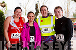 Aisling Carroll (Mallow AC), Maria McKenna (Duagh), Casey O'Donnell (Ballyard) and Laura Devane (Blennerville) at the the Optimal Fitness 5 & 10k run at the Rose Hotel on New Years Eve morning.