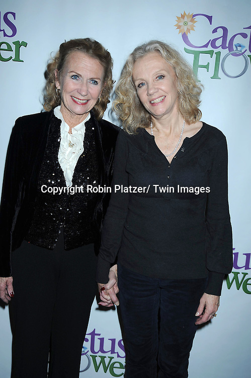 "Juliet Mills and sister Hayley Mills attending the Opening night party for .""Cactus Flower"" on March 10, 2011 at B Smith's Restaurant. The show stars Lois Robbins, Maxwell Caulfield and Jenni Barber."