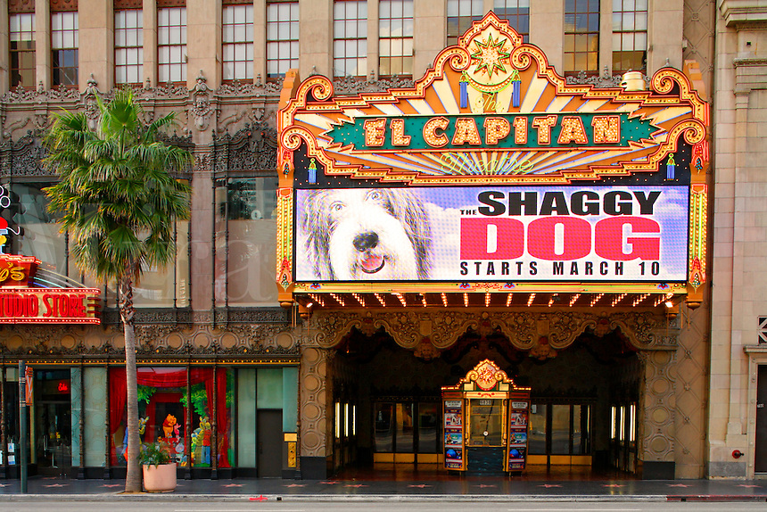 The El Capitan Theater on Hollywood Boulevard, Hollywood, Los Angeles, California