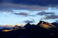 Sunset over the French Alps, France.