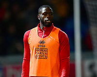Lincoln City's John Akinde during the pre-match warm-up<br /> <br /> Photographer Andrew Vaughan/CameraSport<br /> <br /> The EFL Sky Bet League Two - Mansfield Town v Lincoln City - Monday 18th March 2019 - Field Mill - Mansfield<br /> <br /> World Copyright © 2019 CameraSport. All rights reserved. 43 Linden Ave. Countesthorpe. Leicester. England. LE8 5PG - Tel: +44 (0) 116 277 4147 - admin@camerasport.com - www.camerasport.com
