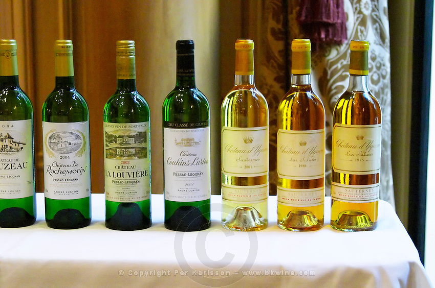 Lurton made wines: Cruzeau, Rochemorin, La Louviere, couhins, Yquem... Bordeaux, France