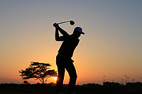 Roman Wattell (FRA) during previews ahead of the first round of the NBO Open played at Al Mouj Golf, Muscat, Sultanate of Oman. <br /> 13/02/2018.<br /> Picture: Golffile | Phil Inglis<br /> <br /> <br /> All photo usage must carry mandatory copyright credit (&copy; Golffile | Phil Inglis)