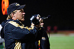 Redondo Beach, CA 10/14/11 - Coach Kevin Moen in action during the Peninsula vs Redondo Union varsity football game.
