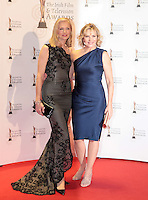 12/2/11 Joely Richardson and Kim Cattrall on the red carpet at the 8th Irish Film and Television Awards at the Convention centre in Dublin. Picture:Arthur Carron/Collins