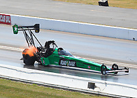 Sep 3, 2017; Clermont, IN, USA; NHRA top fuel driver Kebin Kinsley during qualifying for the US Nationals at Lucas Oil Raceway. Mandatory Credit: Mark J. Rebilas-USA TODAY Sports
