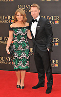 Harriet Scott and Ronan Keating at the Olivier Awards 2018, Royal Albert Hall, Kensington Gore, London, England, UK, on Sunday 08 April 2018.<br /> CAP/CAN<br /> &copy;CAN/Capital Pictures<br /> CAP/CAN<br /> &copy;CAN/Capital Pictures