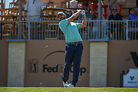 Stephan Jaeger (GER) watches his tee shot on 16 during Round 1 of the Valero Texas Open, AT&amp;T Oaks Course, TPC San Antonio, San Antonio, Texas, USA. 4/19/2018.<br /> Picture: Golffile | Ken Murray<br /> <br /> <br /> All photo usage must carry mandatory copyright credit (&copy; Golffile | Ken Murray)
