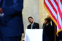 Cleveland, OH - July 20, 2016: House Speaker Paul Ryan waits to speak to attendees of a forum hosted by the Bipartisan Policy Center and the Milken Institute during the Republican National Convention in Cleveland, Ohio, July 20, 2016.  (Photo by Don Baxter/Media Images International)