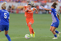 Houston, TX - Sunday Sept. 11, 2016: Andressa Machry, Angela Salem during a regular season National Women's Soccer League (NWSL) match between the Houston Dash and the Boston Breakers at BBVA Compass Stadium.