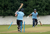 Cricket Scotland - T20 Blitz - the end of a very fineBerrington innings - picture by Donald MacLeod - 03.09.08.2017 - 07702 319 738 - clanmacleod@btinternet.com - www.donald-macleod.com