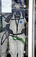 BNPS.co.uk (01202 558833)<br /> Pic: ZacharyCulpin/BNPS<br /> <br /> Deep clean team has arrived at The Gym in Poole Dorset today.<br /> <br /> A 24 hour gym has been forced to close its doors after one of its members was diagnosed with coronavirus.<br /> <br /> The Gym, in Poole, Dorset, is expected to be shut for three days while its facilities are given a deep clean on the advice of Public Health England.<br /> <br /> In an email sent to members, bosses said that the welfare of its users was of the 'utmost priority' when making the decision.