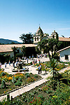California: Monterey Region.  The Carmel Mission..Photo #: camon3102..Photo copyright Lee Foster, 510/549-2202, lee@fostertravel.com, www.fostertravel.com
