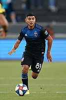 SAN JOSE, CA - JULY 16: Kevin Partida #89 of the San Jose Earthquakes during a friendly match between the San Jose Earthquakes and Real Valladolid on July 16, 2019 at Avaya Stadium in San Jose, California.
