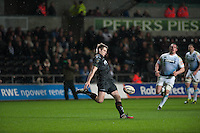 Friday 21 March 2014<br /> Pictured: Dan Biggar Of the Osprays<br /> Re: Rabo Direct PRO12 Match Ospreys vs Cardiff Blues at the Liberty Stadium, Swansea, Wales