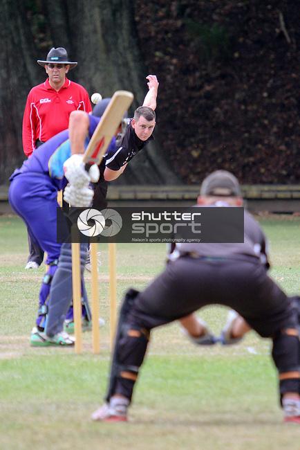 One day cricket, ACOB v Motueka, 2 March 2013, Botanics, Nelson, New Zealand<br /> Photo: Marc Palmano/shuttersport.co.nz