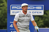 Bryson DeChambeau (USA) on the 13th tee during Saturday's Round 3 of the Porsche European Open 2018 held at Green Eagle Golf Courses, Hamburg Germany. 28th July 2018.<br /> Picture: Eoin Clarke | Golffile<br /> <br /> <br /> All photos usage must carry mandatory copyright credit (&copy; Golffile | Eoin Clarke)