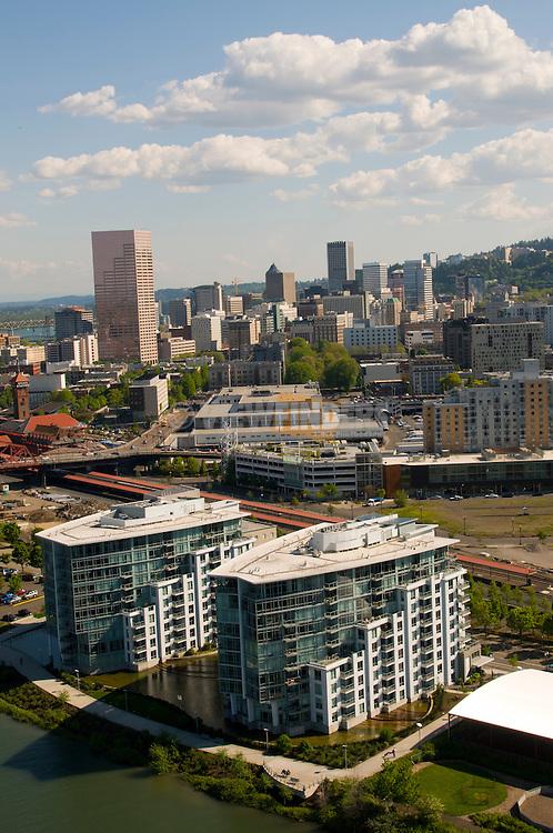 Aerial View of Waterfront Pearl Condominiums, Portland, Oregon