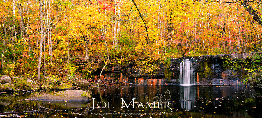 Wolf Creek Falls at Banning State Park near Askov, Minnesota in autumn.