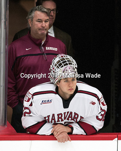 John O'Donnell (Harvard - Equipment Manager), Peter Traber (Harvard - 32) - The Harvard University Crimson defeated the visiting Brown University Brown Bears 5-2 (EN) on Saturday, November 7, 2015, at Bright-Landry Center in Boston, Massachusetts.