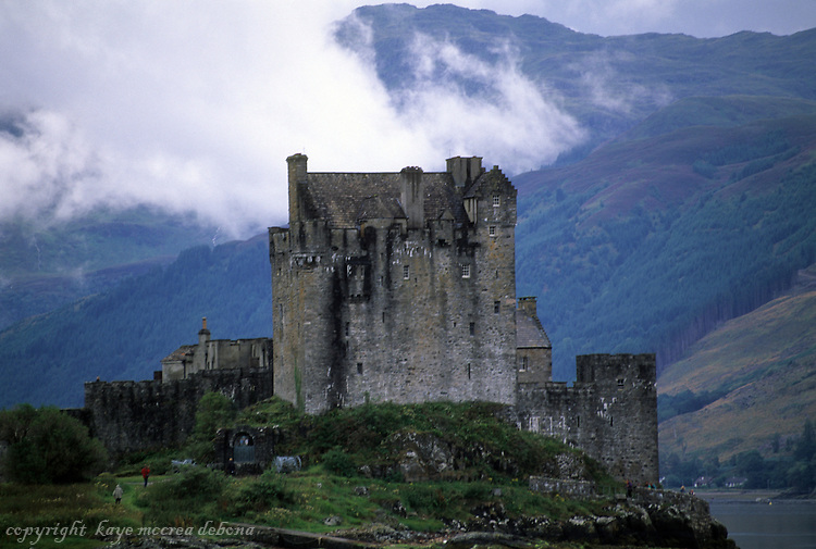 Eilean Donan Castle, located on Loch Duich near Dornie, is the most photographed castle in Scotland.  It is the home of the Clan MacRae.