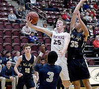 Bud Sullins/Special to the Herald-Leader<br /> Siloam Springs senior Jacob Wakefield goes in for a shot against Bentonville West on Dec. 11 at Panther Activity Center. Wakefield and the Panthers host Beebe on Friday to open 5A-West Conference play.