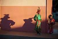 Pocone_MT, Brasil...Danca dos Mascarados e uma danca tradicional e folclorica de Pocone, Mato Grosso. Nao de sabe de onde veio, quem a introduziu aqui, e uma danca que vem dos costumes dos indios, enriquecidas pelos colonizadores espanhois que aqui chegaram. Os participantes sao somente homens mascarados, usando chapeus com plumas, espelhos e outros enfeites, desempenhando funcao de damas e de gala...Danca dos Mascarados is typical of the municipality of Pocone, is a mixture of European quadrille, dance rhythms and indigenous blacks. The major peculiarity of this dance is that only men participate in pairs, half of them dressed as women, wearing masks and colorful clothing is predominantly red and yellow...Foto: JOAO MARCOS ROSA  /NITRO..