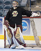 Adam Reasoner - The Boston College Eagles practiced at the Bradley Center in Milwaukee, Wisconsin, on April 7, 2006 in preparation for the 2006 Frozen Four Final game vs. the University of Wisconsin on April 8, 2006.