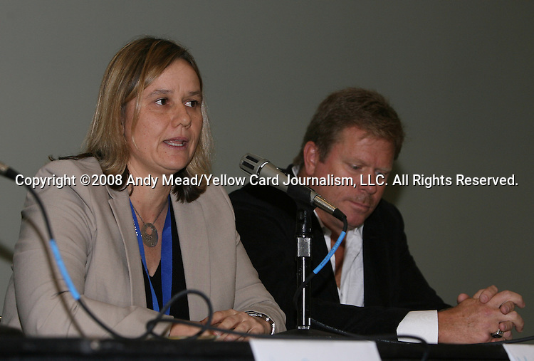 19 January 2008: Chicago General Manager Marcia McDermott and investor Gary Weaver. Women's Professional Soccer held a Town Hall Meeting at the 2008 National Soccer Coaches Association of America's annual convention being held at the Convention Center in Baltimore, Maryland.