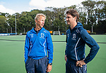 UTRECHT  - training dames I van Kampong, voor het begin van de hoofdklassecompetitie. coach Michiel van der Struijk (Kampong) met assistent-coach Pieter Bos (Kampong)  (r)  COPYRIGHT  KOEN SUYK,