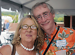 Sylvia Carter and Tom Hawkins seen at Newsday Family Reunion at the Pavilion at Sunken Meadow State Park in Kings Park, NY,  on Thursday August 12, 2010. Photo © Jim Peppler 2010.