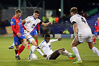 Sam Ling of Dagenham and Ritchie Sutton of Tranmere Rovers during Tranmere Rovers vs Dagenham & Redbridge, Vanarama National League Football at Prenton Park on 11th November 2017
