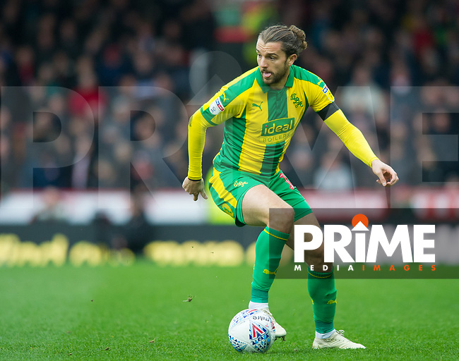 WBA's Jay Rodriguez during the Sky Bet Championship match between Brentford and West Bromwich Albion at Griffin Park, London, England on 16 March 2019. Photo by Andrew Aleksiejczuk / PRiME Media Images.