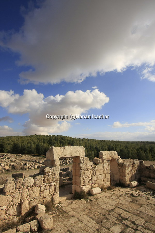 Israel, Southern Hebron Mountain, the ancient Synagogue at Hurvat Anim
