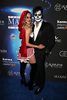 LOS ANGELES, CA - OCTOBER 21: Peta Murgatroyd, Maksim Chmerkovskiy, at 2017 MAXIM Halloween Party at LA Center Studios in Los Angeles, California on October 21, 2017. Credit: Faye Sadou/MediaPunch /NortePhoto.com