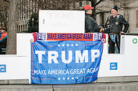 "The ""Bikers for Trump"" used garbage boxes to create ""Trump's Wall"" as people gathered near the National Mall to watch the inauguration of President Donald Trump on Jan. 20, 2017, in Washington, D.C."