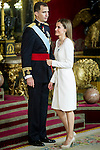 First official act of the Kings Felipe VI and Letizia Ortiz. Royal Palace. Madrid. 06/19/2014. Samuel Roman/Photocall3000