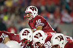 Wisconsin Badgers quarterback Russell Wilson (16) lines up under center during an NCAA Big Ten Conference college football game against the Penn State Nittany Lions on November 26, 2011 in Madison, Wisconsin. The Badgers won 45-7. (Photo by David Stluka)