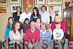 Double Birthday: Ashleigh Hannon and her grandmother Eileen Hannon Listowel celebrate their birthdays together at a family get together at the family home in Listowel on Friday last.  ..Front : Ashleigh, Danny, Eileen & Lewis hannon. Middle : Clodagh, Lianey, Ella & Leslie Hannon...Back : Lita,  Pat, Erinna, Maurice & Aoife Hannon.