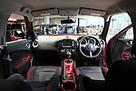 June 9, 2010 - Yokohama, Japan - The interior of the new compact crossover 'Juke' is pictured at the company's headquarters in Yokohama, on June 9, 2010. Nissan said it is aiming to sell 1,300 units per month with starting price of 1.69 million yen (18,500 dollars). 'Juke', which combines features of a sports car and sport utility vehicle, will also be sold in Europe and the U.S. this autumn.