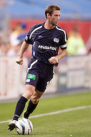 The New England Revolution's Steve Ralston. The New England Revolution and D.C. United finished in a scoreless tie in MLS play at Gillette Stadium, Foxboro, MA on Saturday August 28, 2004.