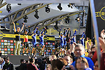 Quick-Step Floors team clap for soon to retire Tom Boonen (BEL) to arrive on stage at sign on before the 101st edition of the Tour of Flanders 2017 running 261km from Antwerp to Oudenaarde, Flanders, Belgium. 26th March 2017.<br /> Picture: Eoin Clarke | Cyclefile<br /> <br /> <br /> All photos usage must carry mandatory copyright credit (&copy; Cyclefile | Eoin Clarke)