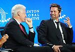 Former President Bill Clinton, Brad Pitt