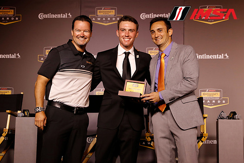2018 Continental Tire SportsCar Challenge Awards, <br /> Travis Roffler, Britt Casey, Jr., Tom Long
