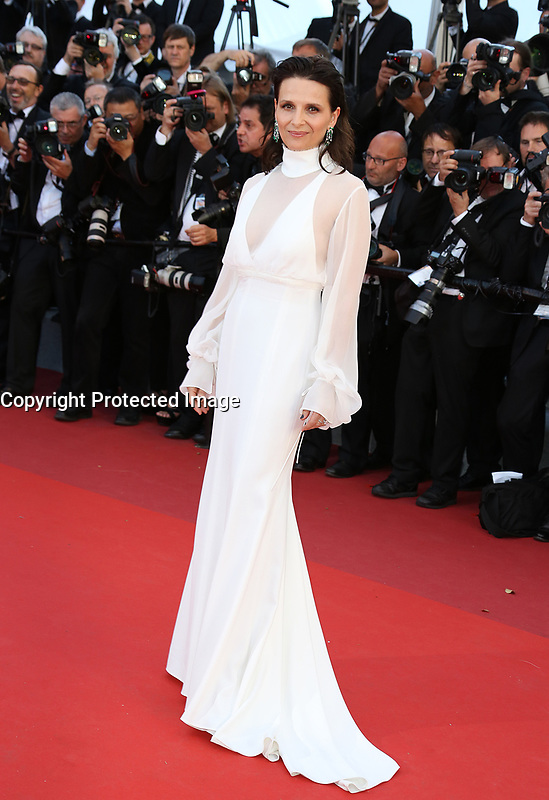 JULIETTE BINOCHE Okja Red Carpet Arrivals - The 70th Annual Cannes Film Festival<br /> CANNES, FRANCE - MAY 19: attends the 'Okja' screening during the 70th annual Cannes Film Festival at Palais des Festivals on May 19, 2017 in Cannes