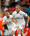 Kelly Smith, Karen Carney, SF, England-Holland, Women's EURO 2009 in Finland, 09062009, Tampere Ratina Stadium.